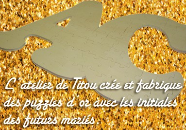 puzzle d'or initiales